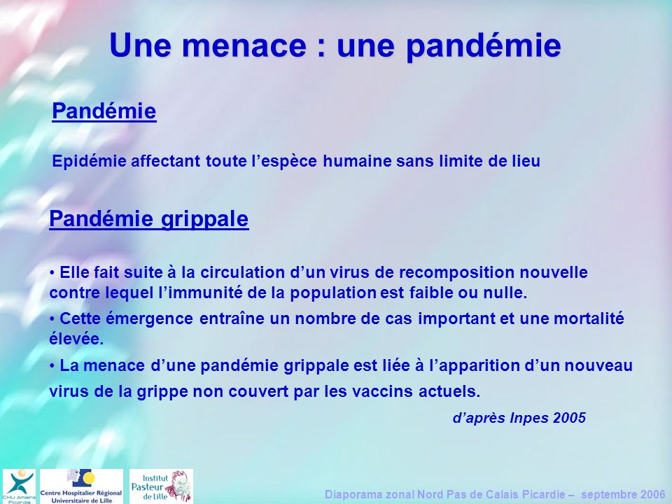 Une menace : une pandémie