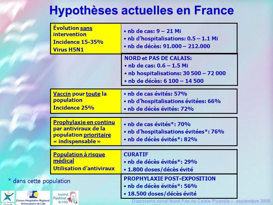 Hypothèses actuelles en France
