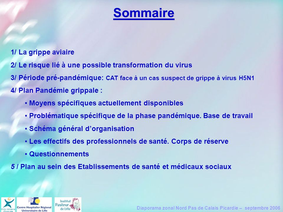 Sommaire 1/ La grippe aviaire