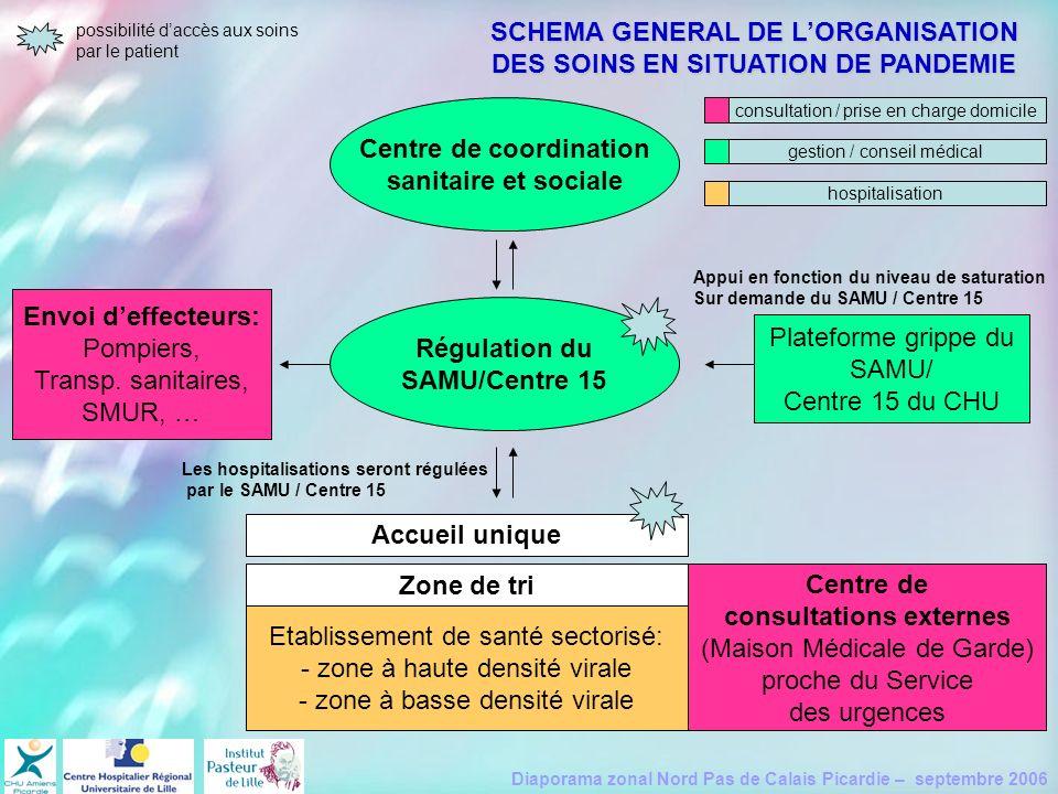 SCHEMA GENERAL DE L'ORGANISATION DES SOINS EN SITUATION DE PANDEMIE