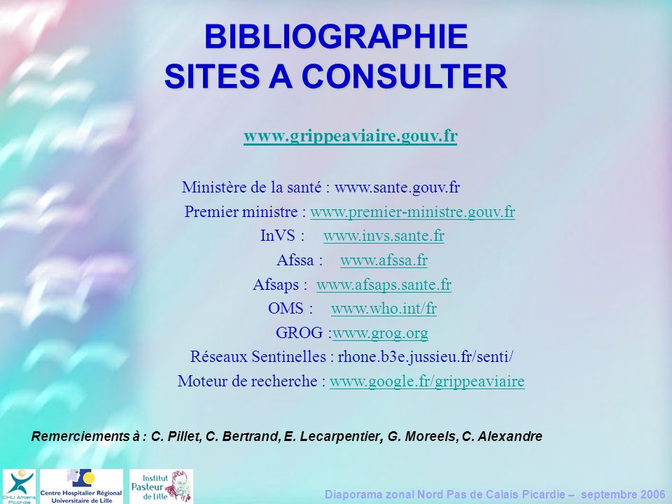 BIBLIOGRAPHIE SITES A CONSULTER