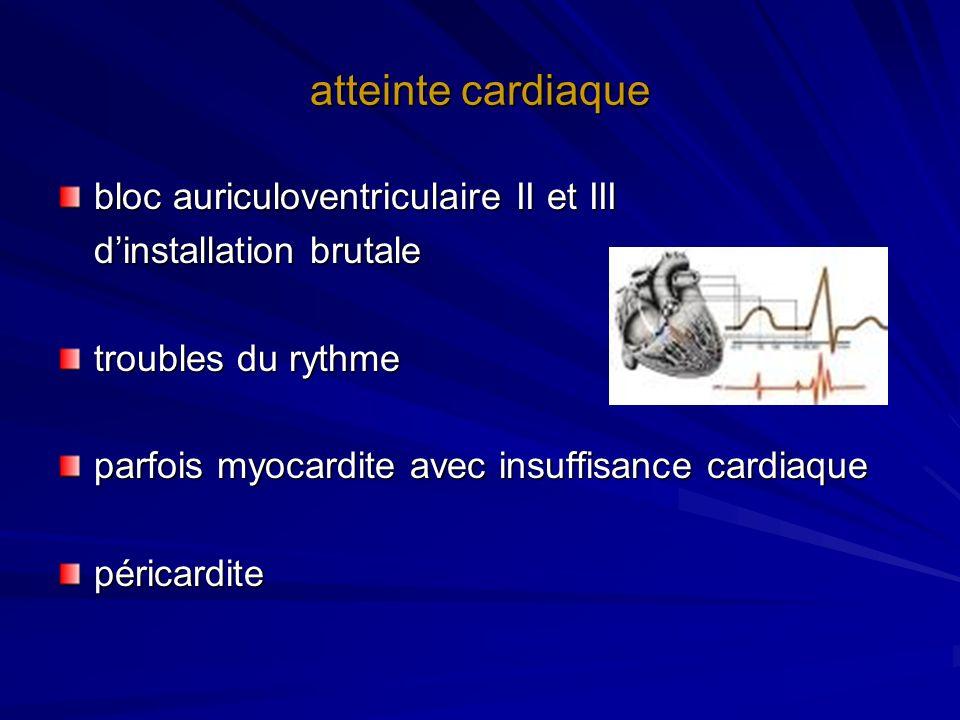 atteinte cardiaque bloc auriculoventriculaire II et III
