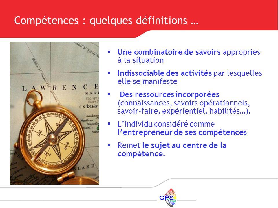 Compétences : quelques définitions …