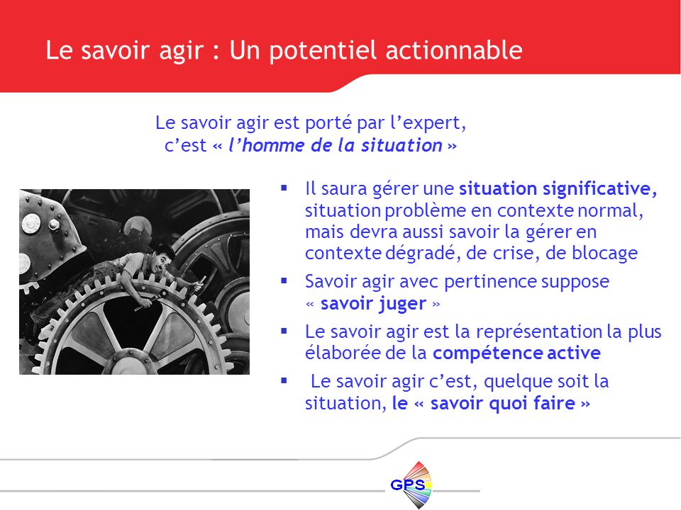 Le savoir agir : Un potentiel actionnable