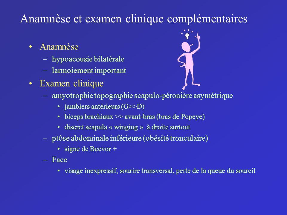 Anamnèse et examen clinique complémentaires