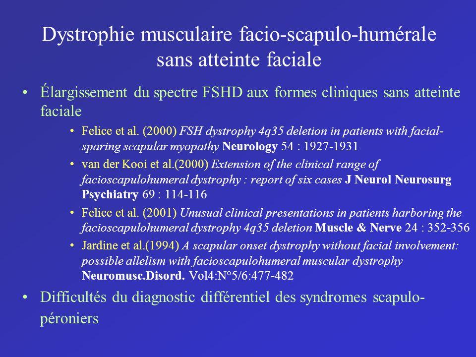 Dystrophie musculaire facio-scapulo-humérale sans atteinte faciale