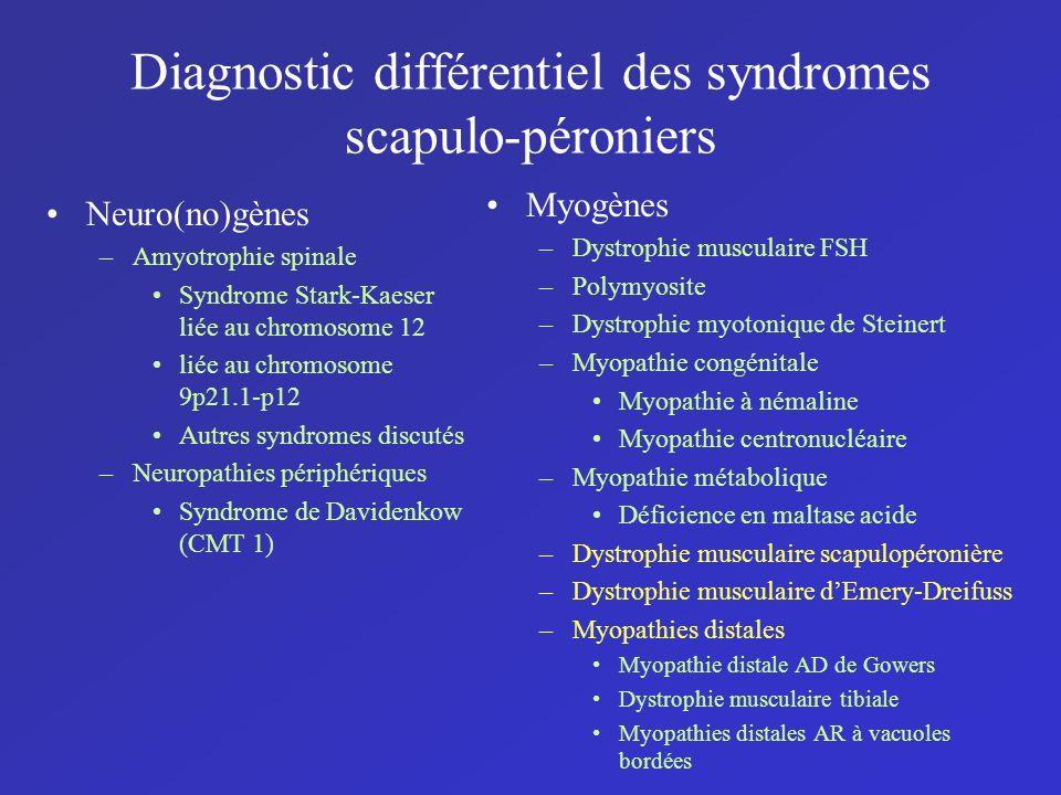 Diagnostic différentiel des syndromes scapulo-péroniers