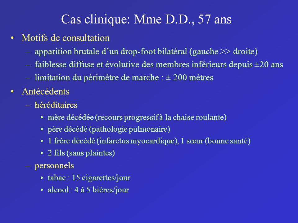 Cas clinique: Mme D.D., 57 ans