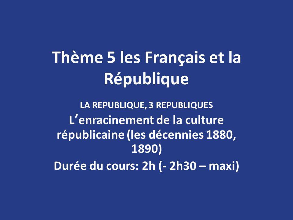 Thème 5 les Français et la République