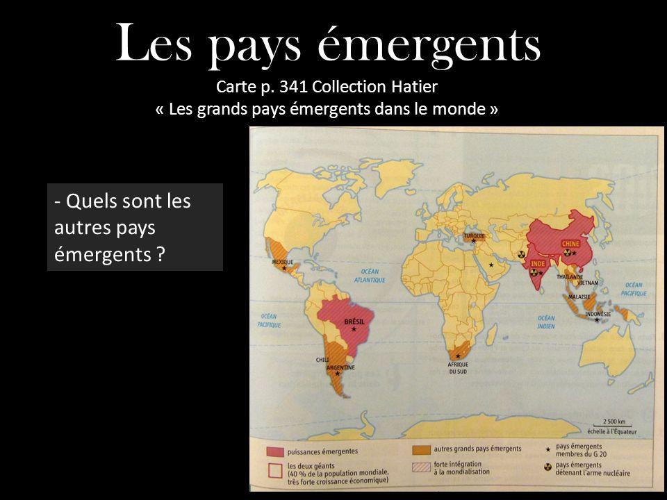 Les pays émergents - Quels sont les autres pays émergents