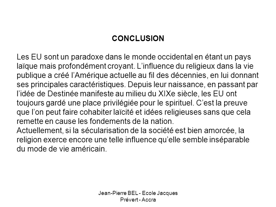 Jean-Pierre BEL - Ecole Jacques Prévert - Accra