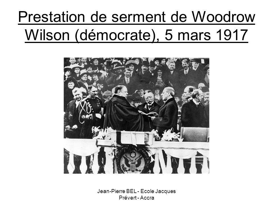 Prestation de serment de Woodrow Wilson (démocrate), 5 mars 1917