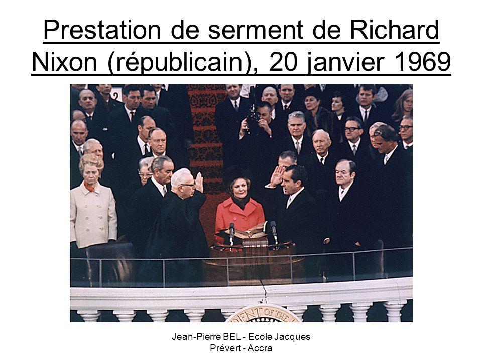 Prestation de serment de Richard Nixon (républicain), 20 janvier 1969