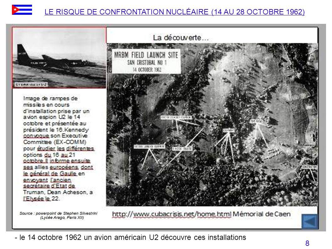 LE RISQUE DE CONFRONTATION NUCLÉAIRE (14 AU 28 OCTOBRE 1962)