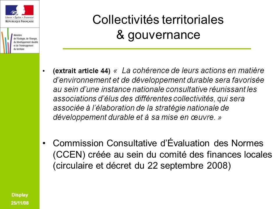 Collectivités territoriales & gouvernance