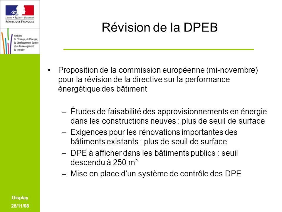 Révision de la DPEB