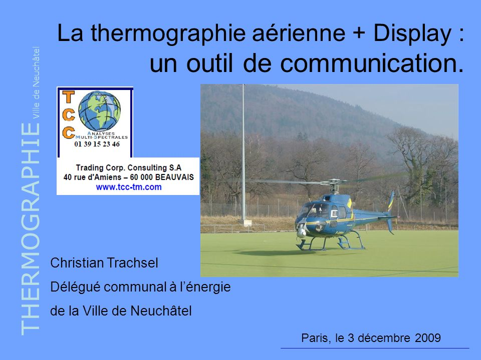La thermographie aérienne + Display : un outil de communication.