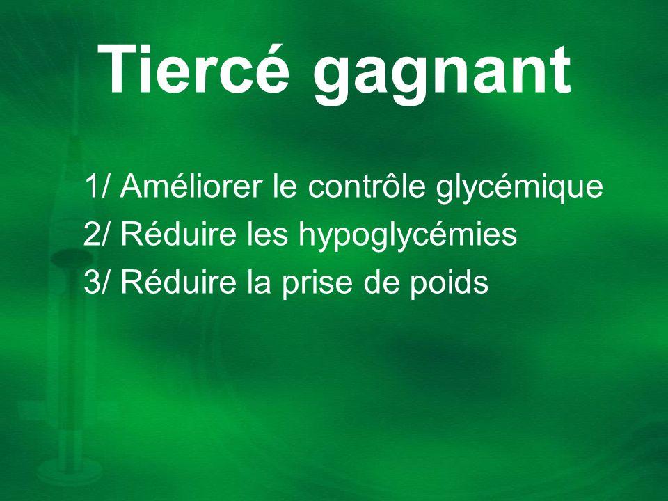 Tiercé gagnant 1/ Améliorer le contrôle glycémique
