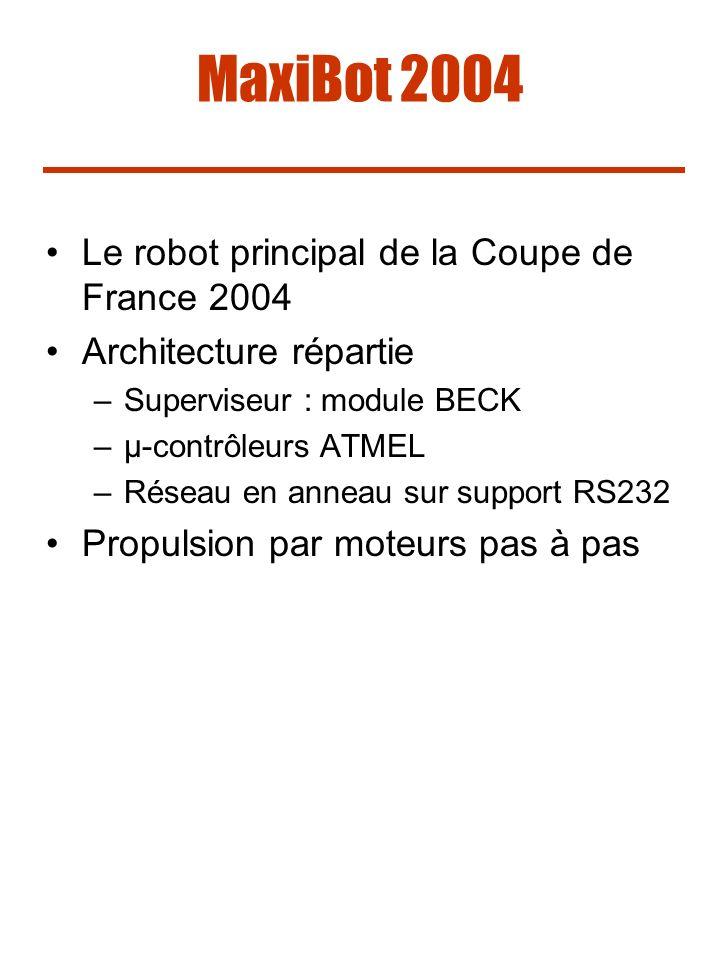 MaxiBot 2004 Le robot principal de la Coupe de France 2004