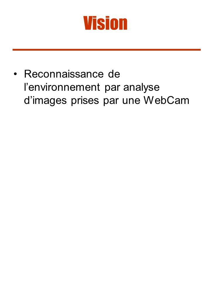Vision Reconnaissance de l'environnement par analyse d'images prises par une WebCam