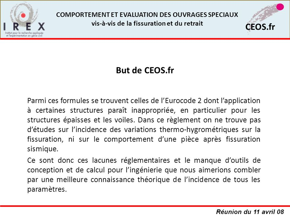 But de CEOS.fr