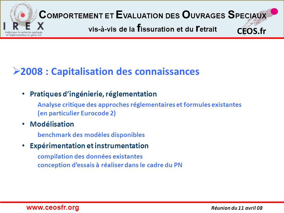 2008 : Capitalisation des connaissances