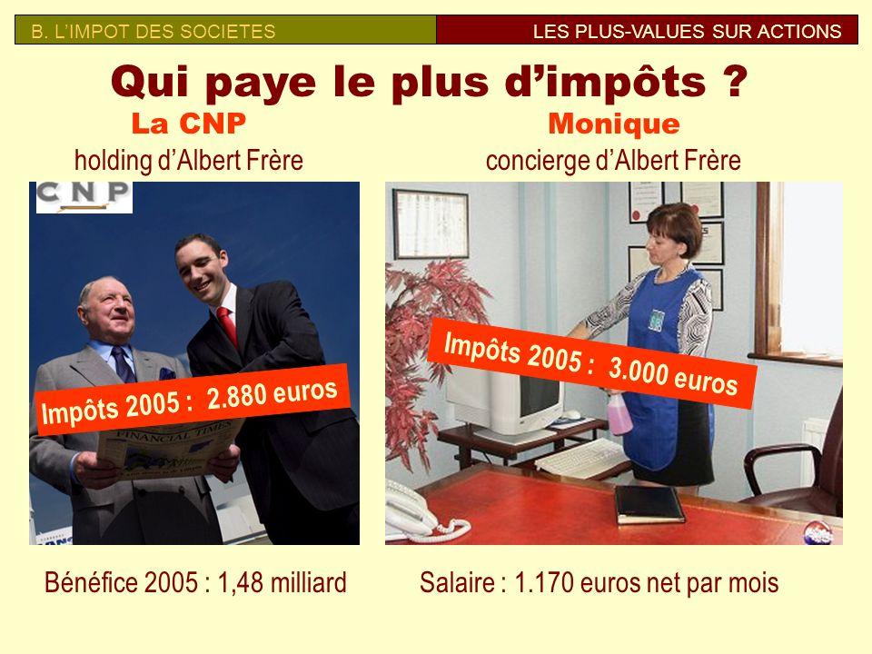 Qui paye le plus d'impôts