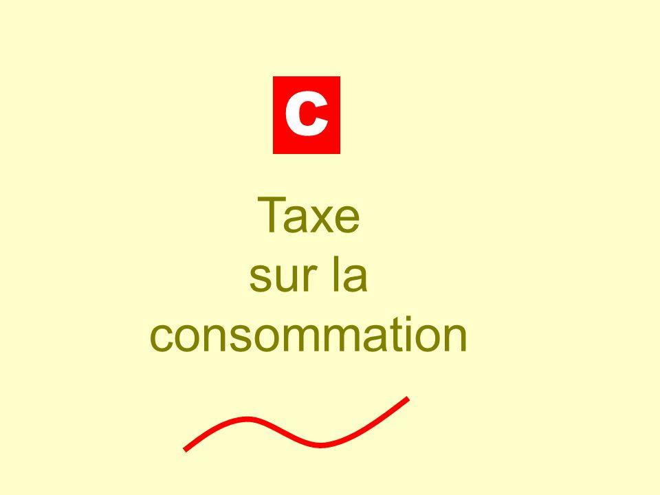Taxe sur la consommation
