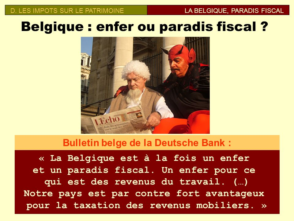 Belgique : enfer ou paradis fiscal