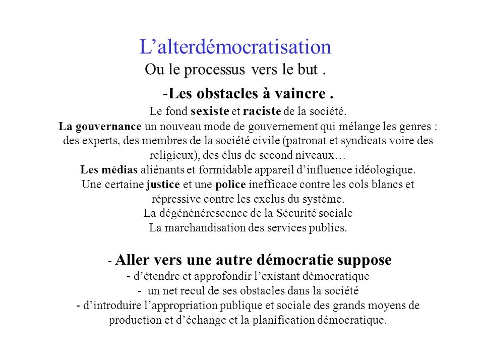 L'alterdémocratisation