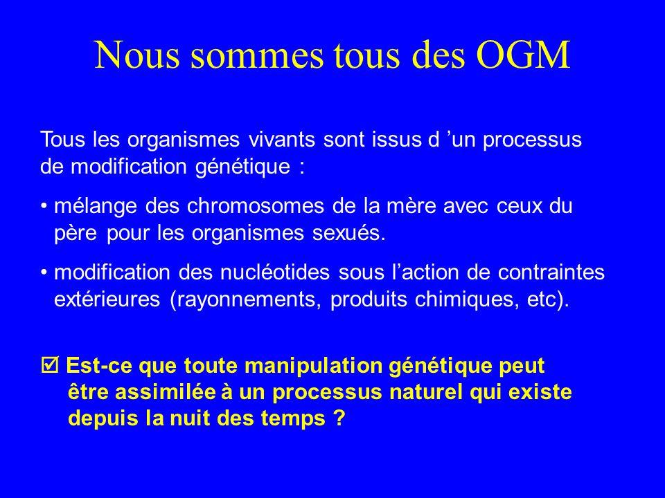 Nous sommes tous des OGM