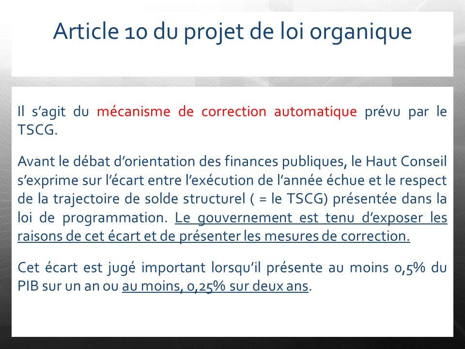 Article 10 du projet de loi organique