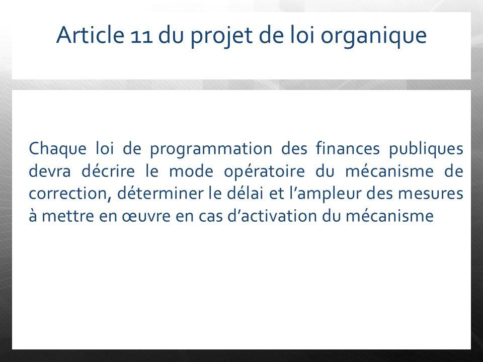 Article 11 du projet de loi organique