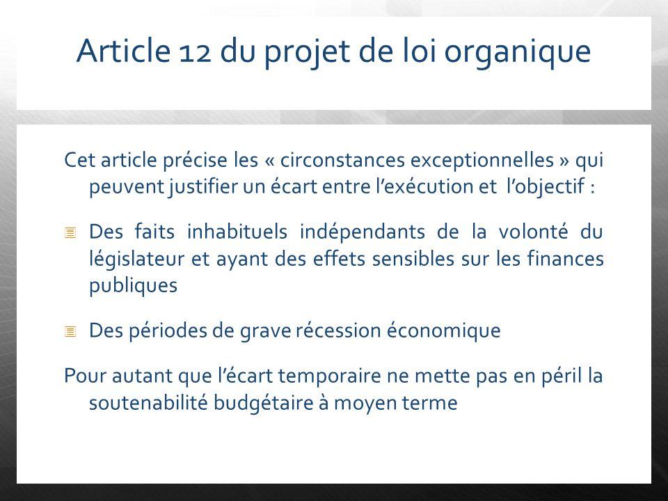 Article 12 du projet de loi organique