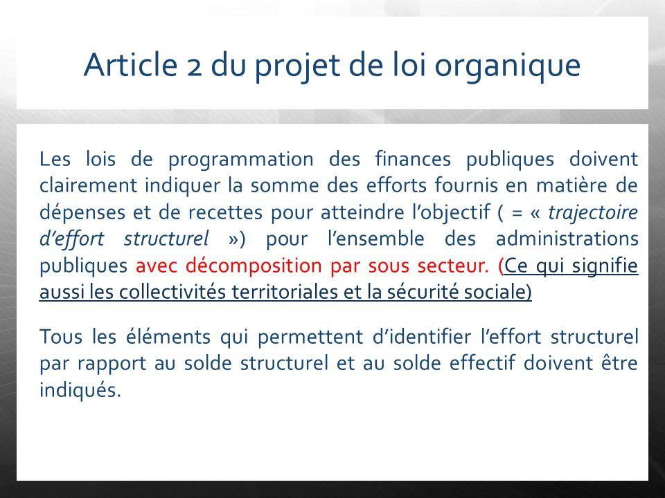 Article 2 du projet de loi organique