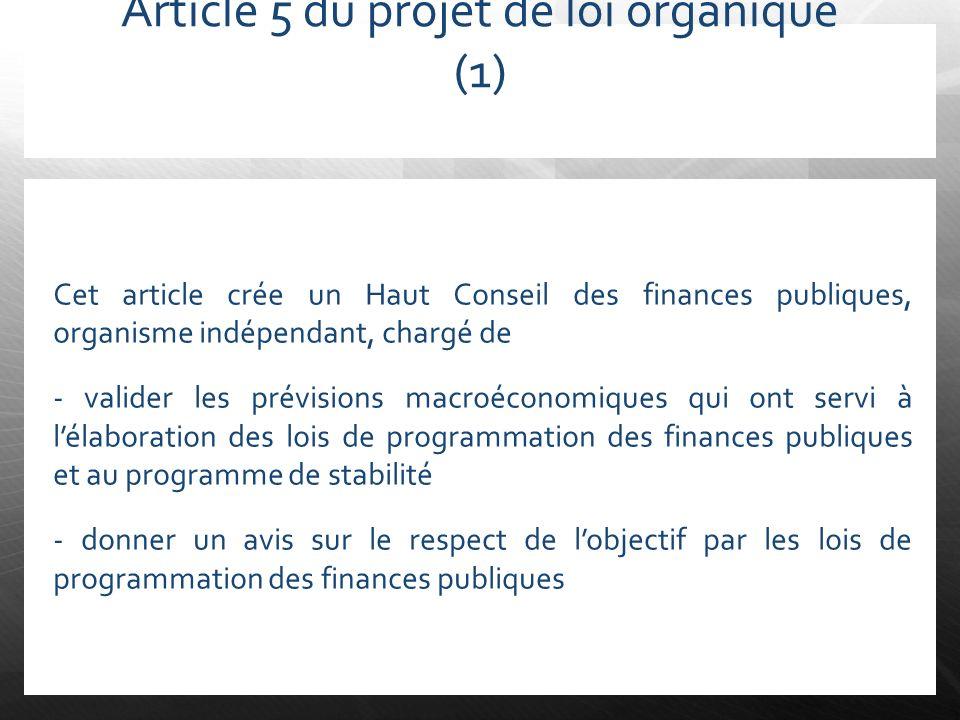 Article 5 du projet de loi organique (1)