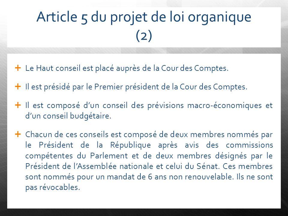 Article 5 du projet de loi organique (2)