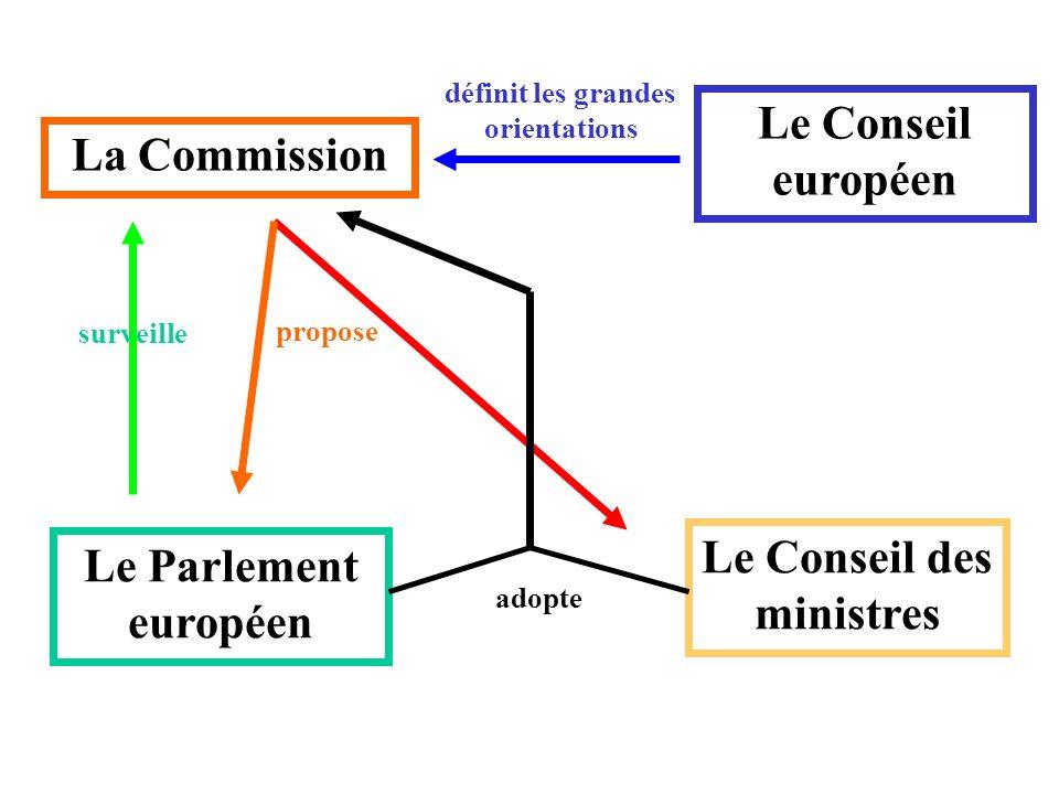 définit les grandes orientations Le Conseil des ministres