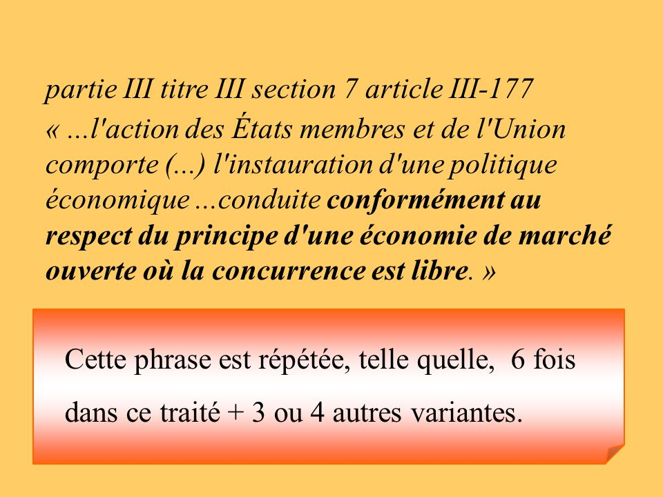 partie III titre III section 7 article III-177