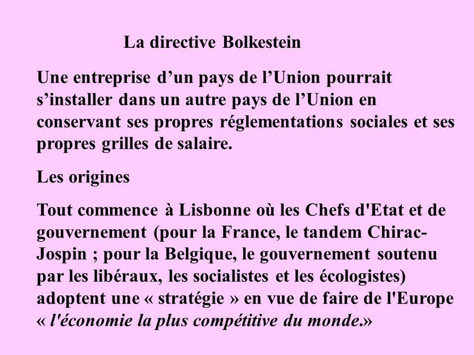 La directive Bolkestein