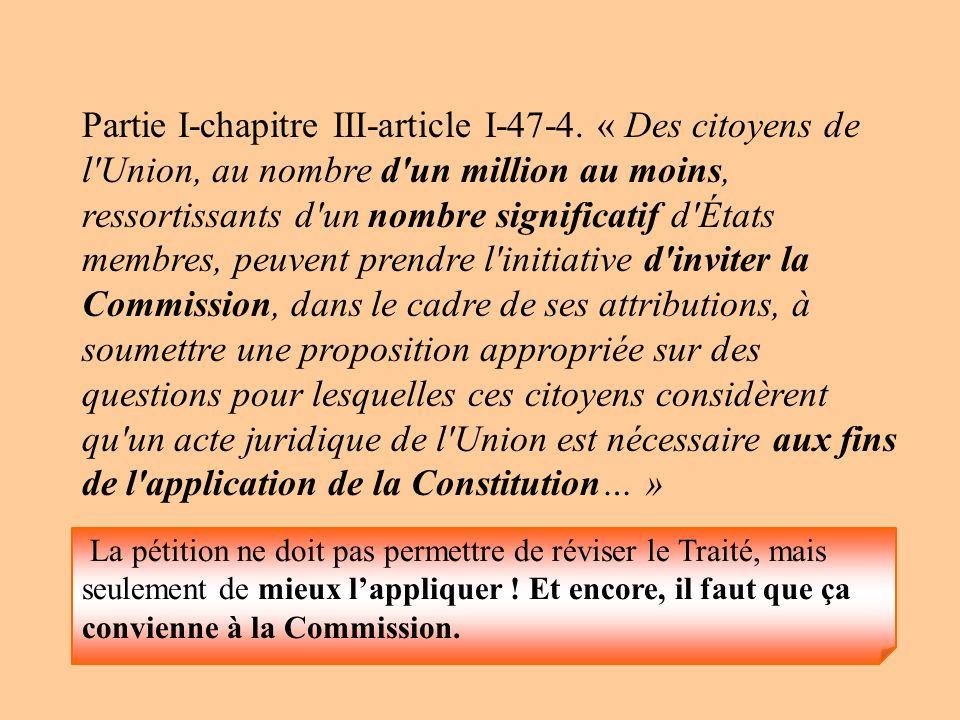 Partie I-chapitre III-article I-47-4