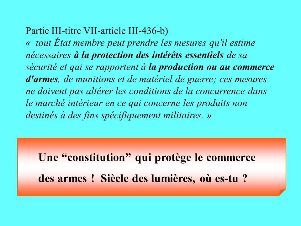 Une constitution qui protège le commerce