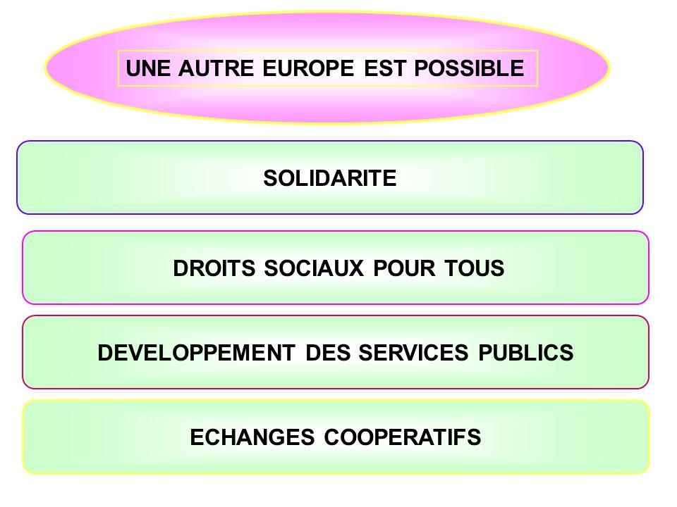 DROITS SOCIAUX POUR TOUS DEVELOPPEMENT DES SERVICES PUBLICS