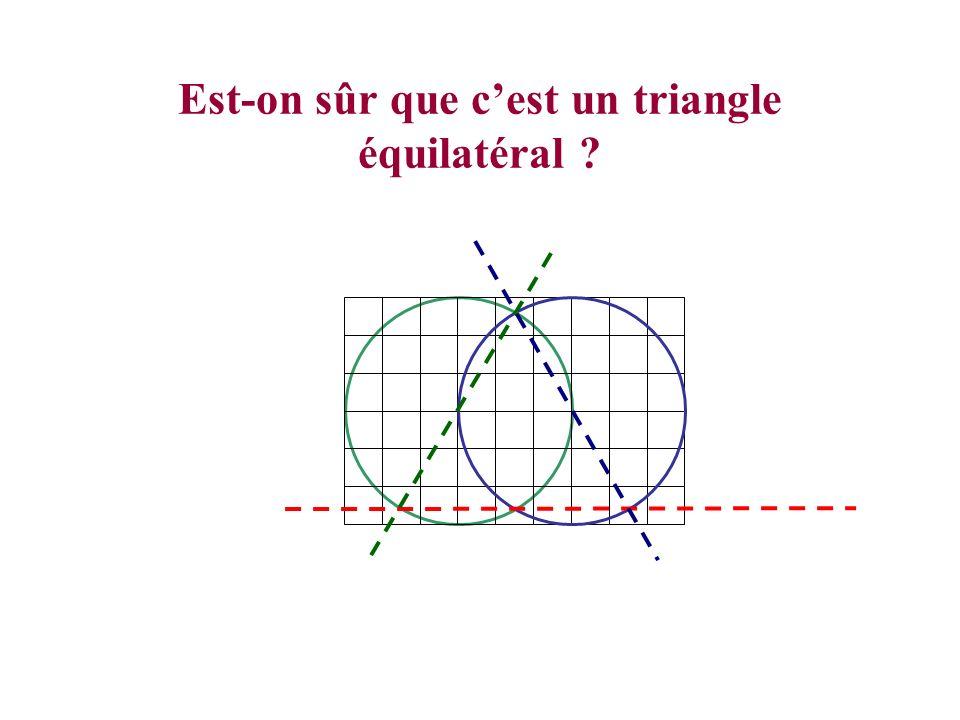 Est-on sûr que c'est un triangle équilatéral