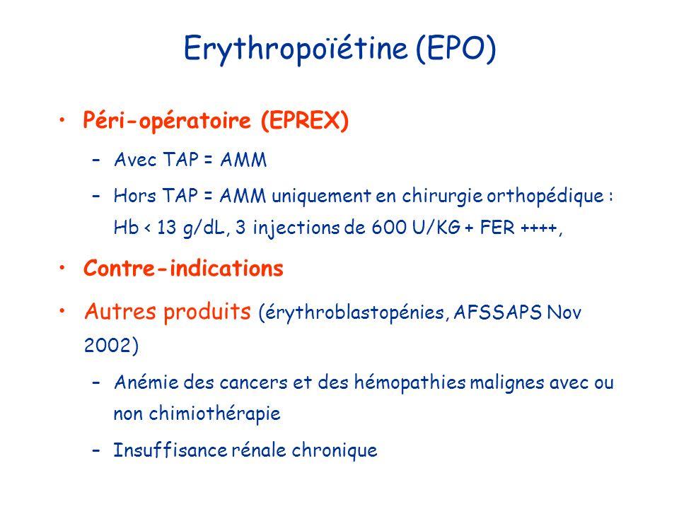 Erythropoïétine (EPO)