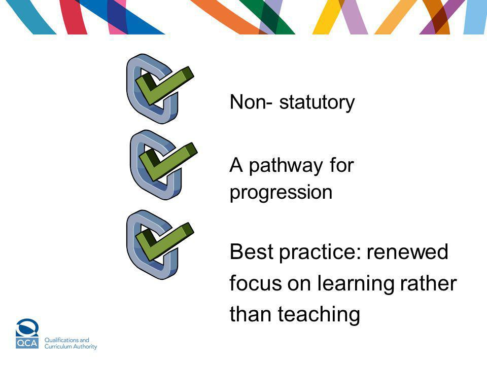 Best practice: renewed focus on learning rather than teaching