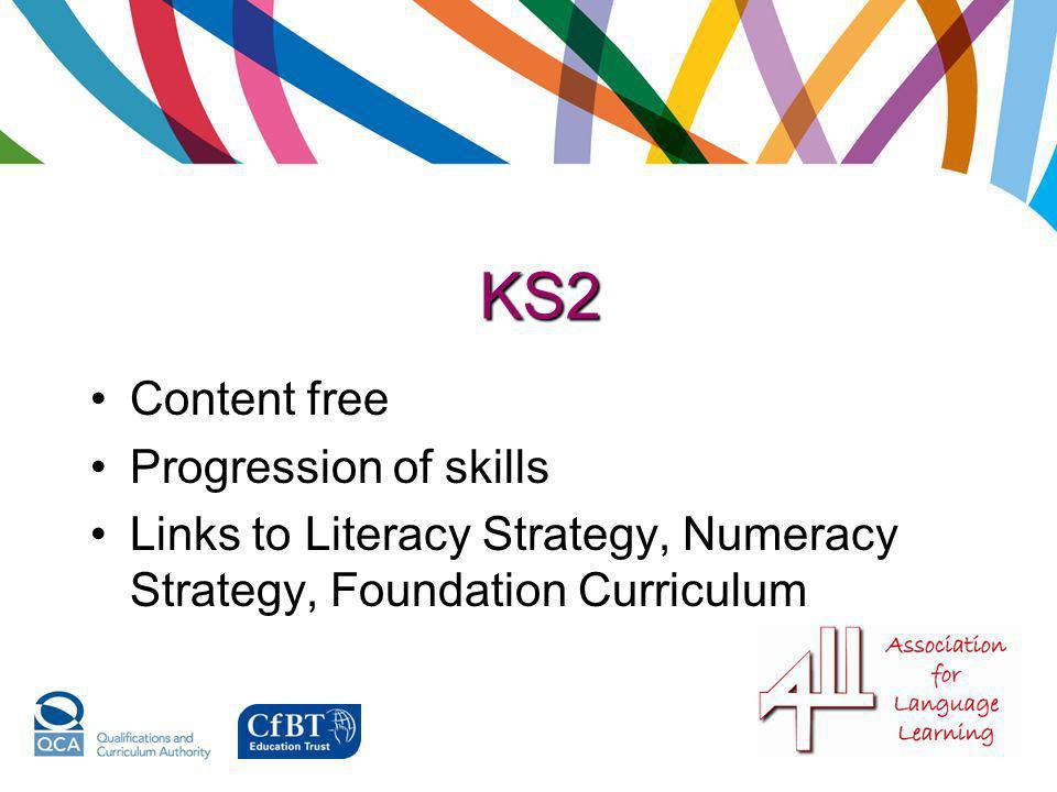 KS2 Content free Progression of skills