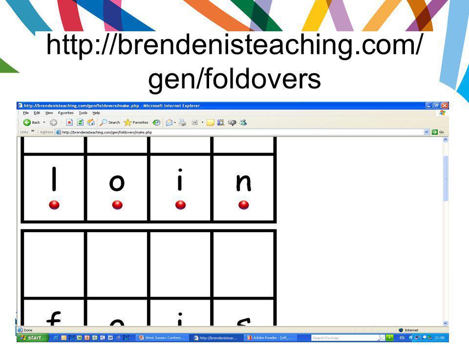 http://brendenisteaching.com/gen/foldovers
