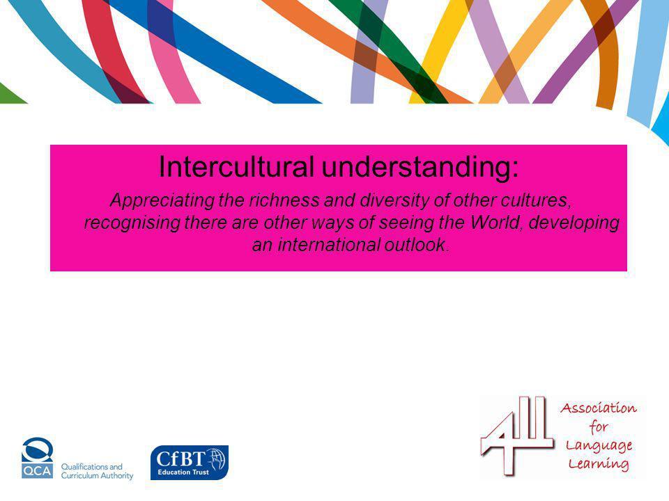 Intercultural understanding: