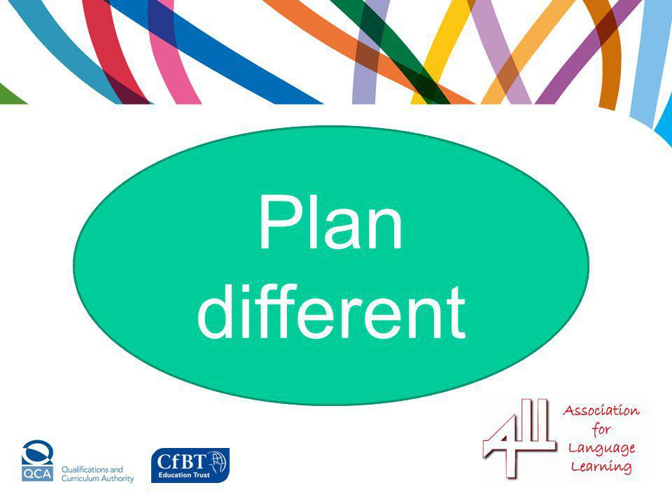 Plan different Plan more